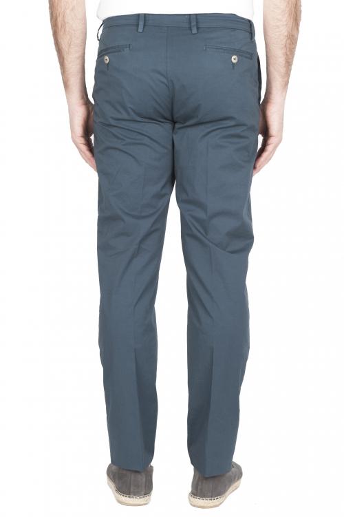 SBU 01780 Pantalón chino ultraligero en algodón elástico azul 01