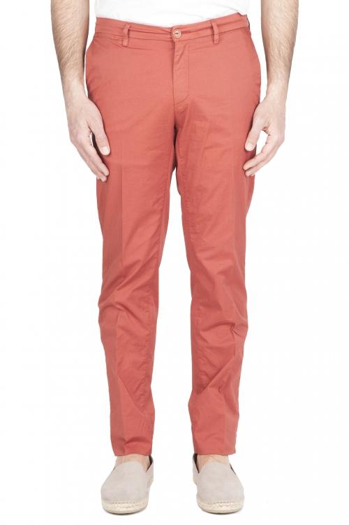 SBU 01781 Pantaloni chino ultra leggeri in cotone elasticizzato rosso 01