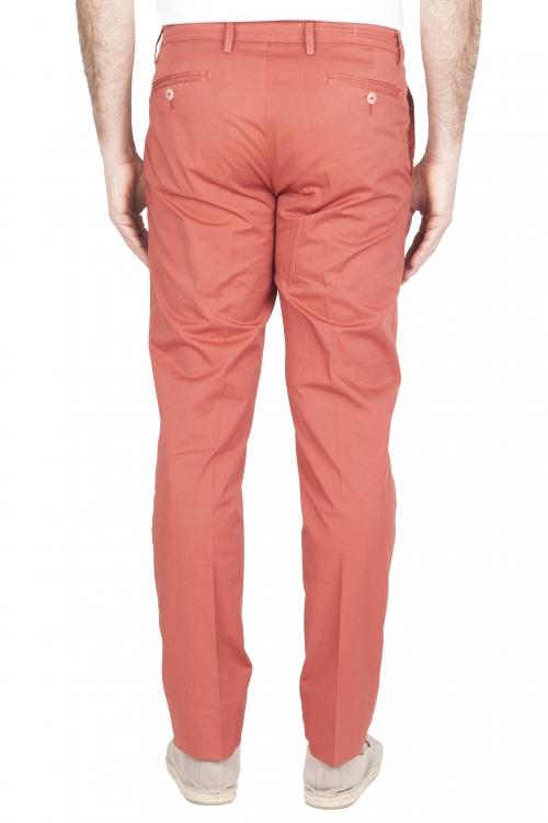 SBU 01781 Pantalón chino ultraligero en algodón elástico rojo 01
