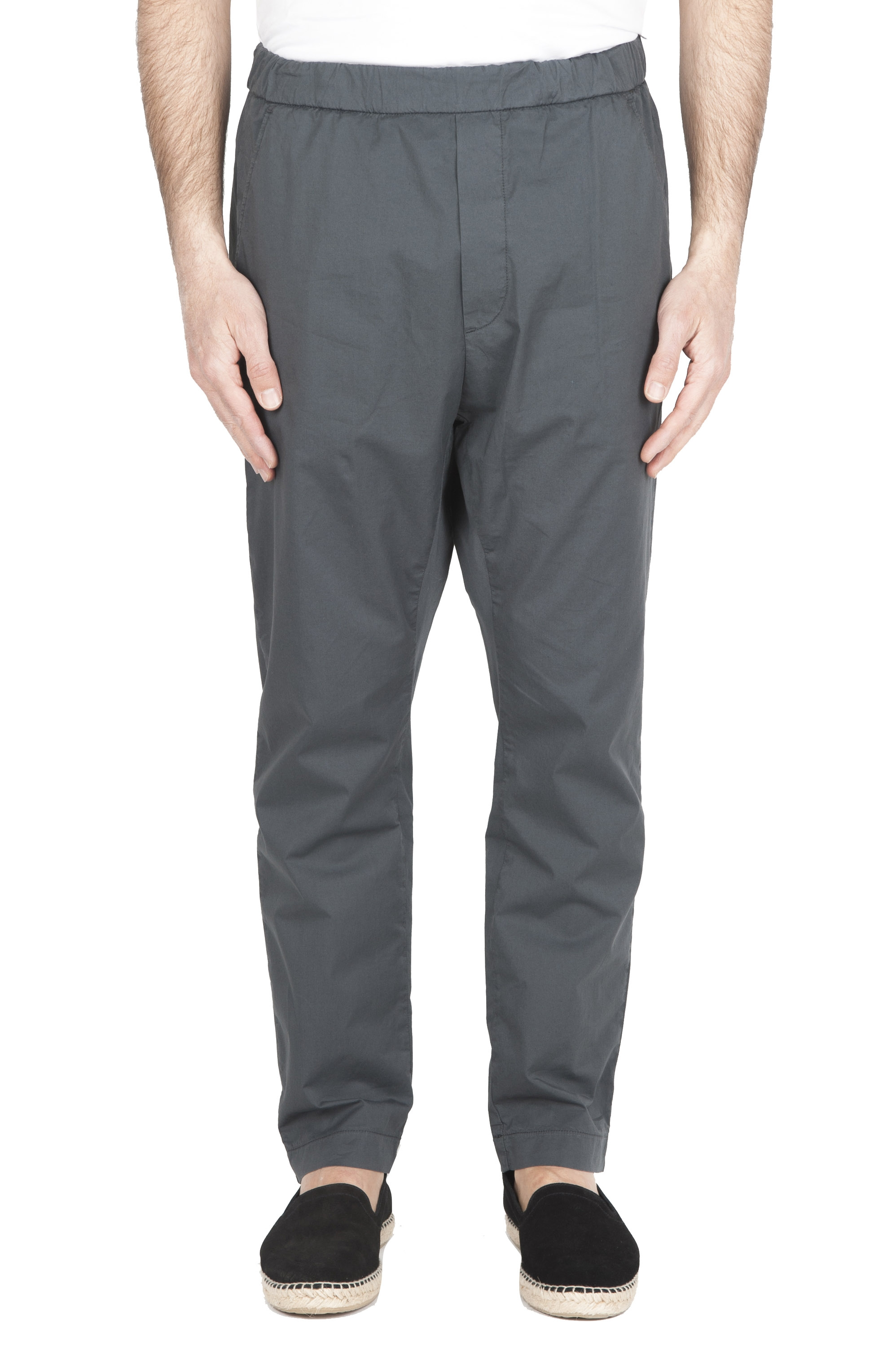 SBU 01782 Ultra-light jolly pants in grey stretch cotton 01