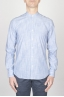 SBU - Strategic Business Unit - Classic Mandarin Collar White And Blue Super Cotton Shirt