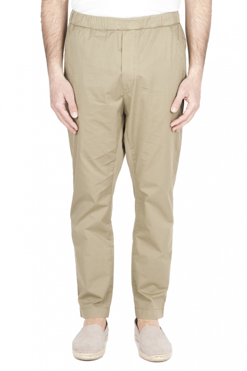 SBU 01783 Pantalón jolly ultraligero en algodón elástico verde 01