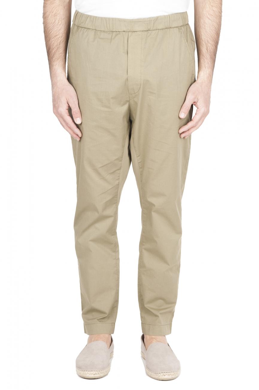 SBU 01783 Ultra-light jolly pants in green stretch cotton 01