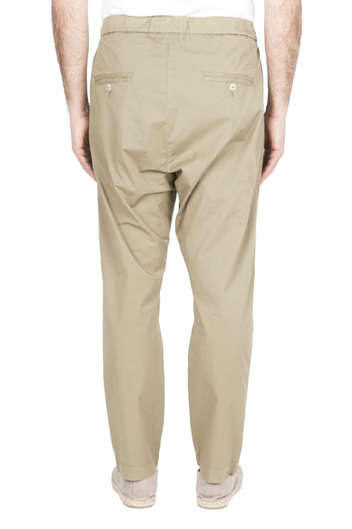 SBU 01783 Ultra-light jolly pants in green stretch cotton 01