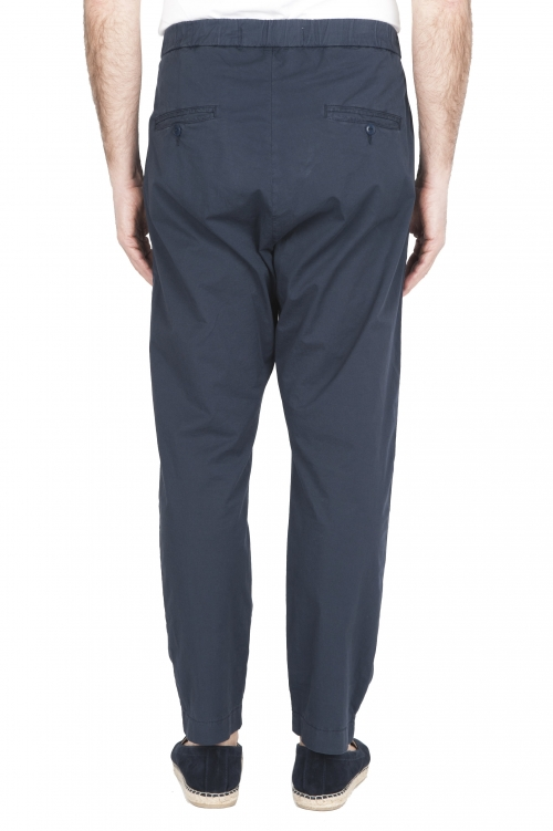 SBU 01784 Pantalón jolly ultraligero en algodón elástico azul 01