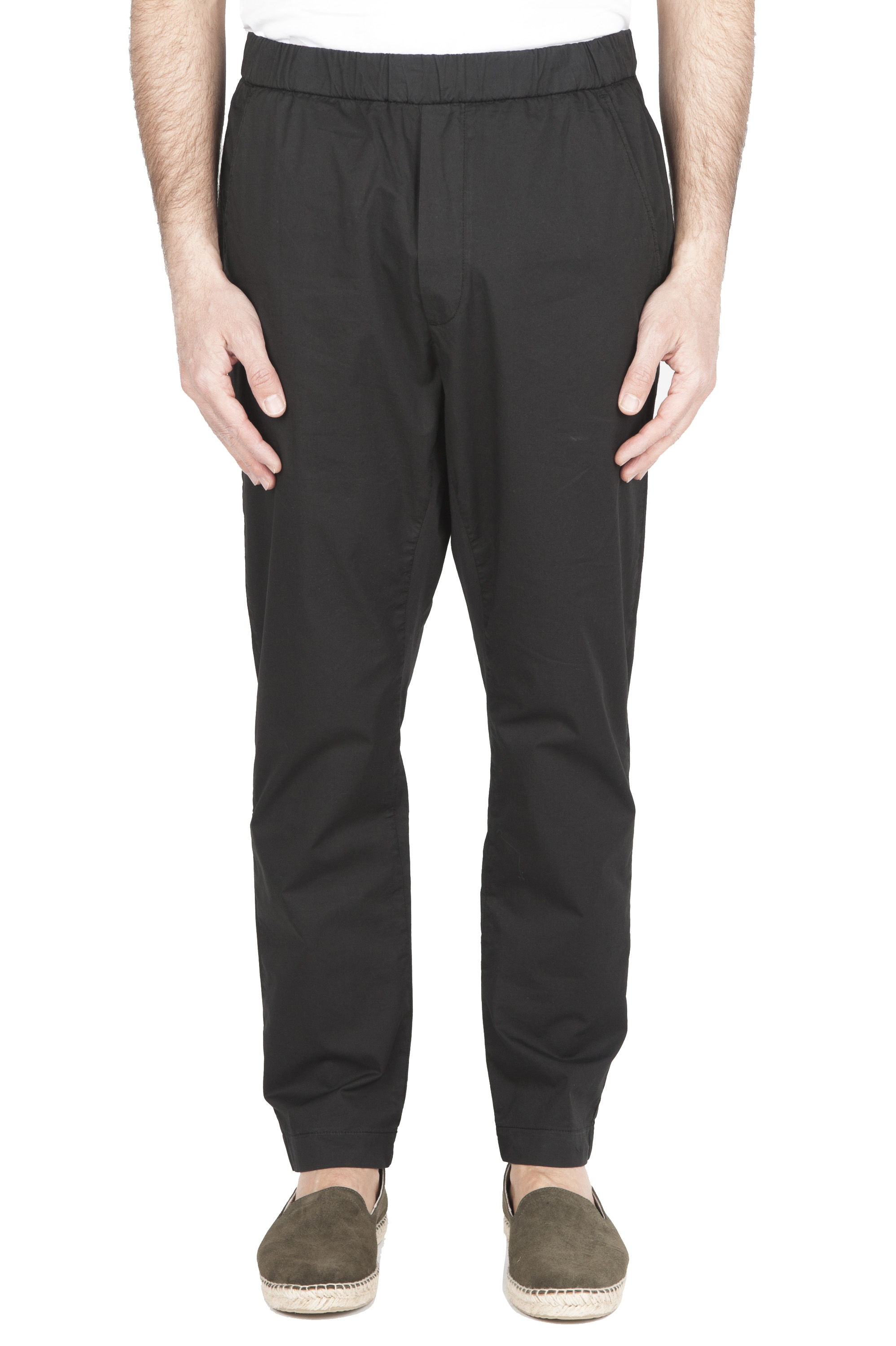 SBU 01785 Ultra-light jolly pants in black stretch cotton 01