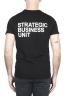 SBU 01794 Camiseta negra de cuello redondo estampado a mano 01