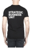 SBU 01794 Round neck black t-shirt printed by hand 01