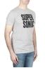 SBU 01798 T-shirt mélangé gris à col rond imprimé à la main 02