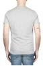 SBU 01798 T-shirt mélangé gris à col rond imprimé à la main 04