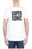 SBU 01800 Round neck white t-shirt printed by hand 01