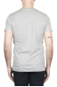 SBU 01801 T-shirt mélangé gris à col rond imprimé à la main 04