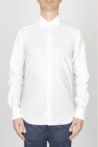 SBU - Strategic Business Unit - Camicia Classica Collo A Punta In Super Cotone Oxford Bianca