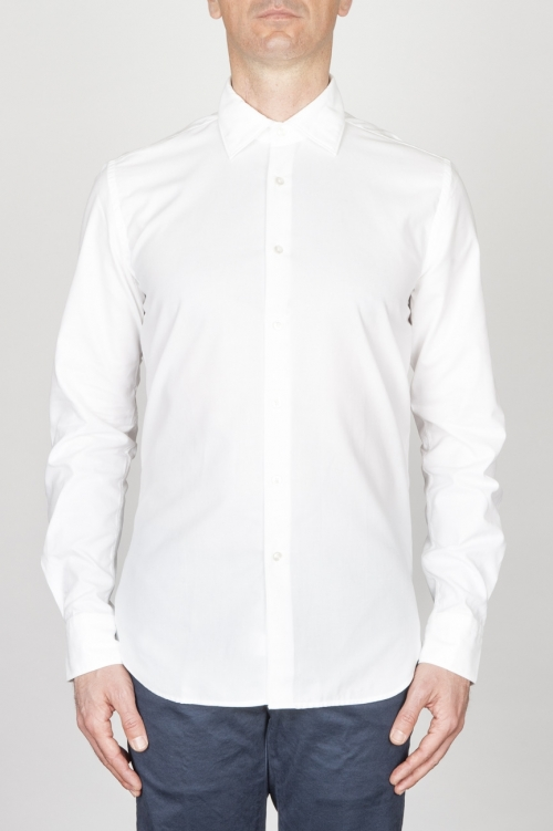 Classic Point Collar White Oxford Super Cotton Shirt