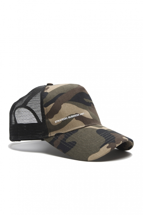SBU 01806 Classic cotton trucker cap camouflage green 01