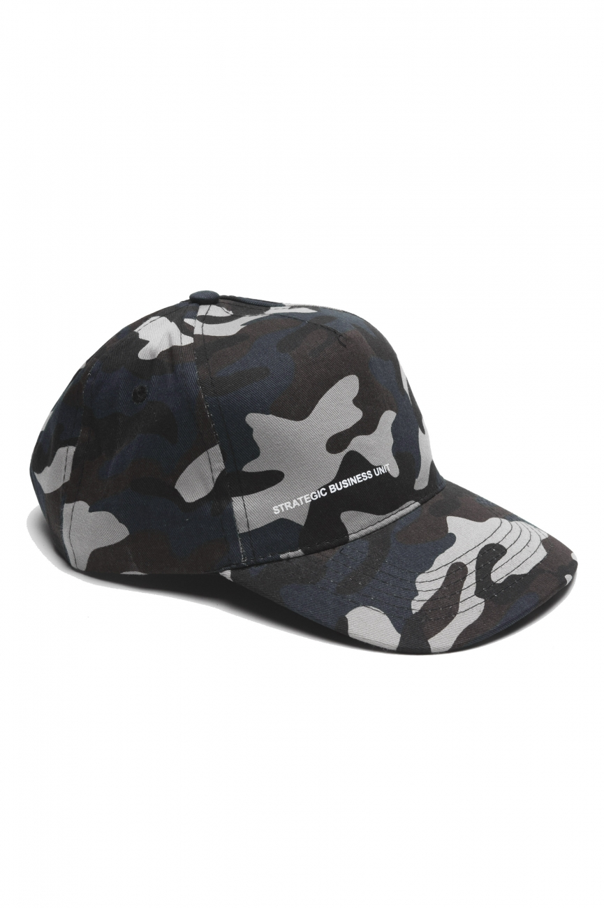 SBU 01810 Classic cotton baseball cap camouflage blue 01