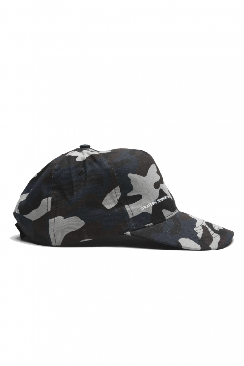 SBU 01810 クラシックコットン野球帽迷彩ブルー 01