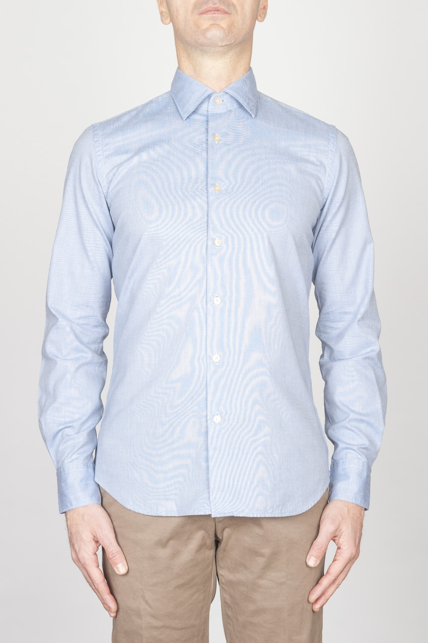 SBU - Strategic Business Unit - Classic Point Collar Blue Oxford Super Cotton Shirt