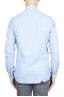 SBU 01307_19AW Camicia in flanella di cotone tinta unita blu 05