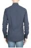 SBU 01309_19AW Camicia in flanella di cotone tinta unita blu navy 05
