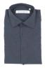 SBU 01309_19AW Camicia in flanella di cotone tinta unita blu navy 06