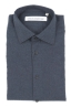 SBU 01309_19AW Plain soft cotton blue navy flannel shirt 06