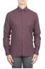 SBU 01310_19AW ボルドーのソリッドカラーの綿のフランネルシャツ 01