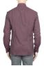 SBU 01310_19AW ボルドーのソリッドカラーの綿のフランネルシャツ 05