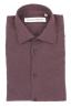 SBU 01310_19AW ボルドーのソリッドカラーの綿のフランネルシャツ 06