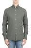 SBU 01319_19AW Camisa de sarga de algodón verde 01