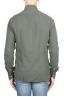 SBU 01319_19AW Camisa de sarga de algodón verde 05