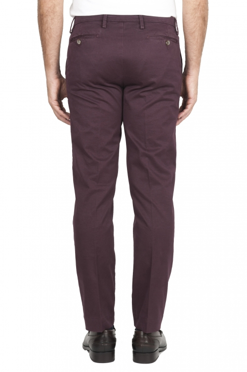 SBU 01535_19AW Pantaloni chino classici in cotone stretch bordeaux 01