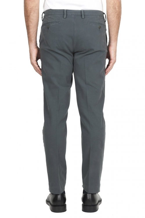 SBU 01540_19AW Classic chino pants in grey stretch cotton 01