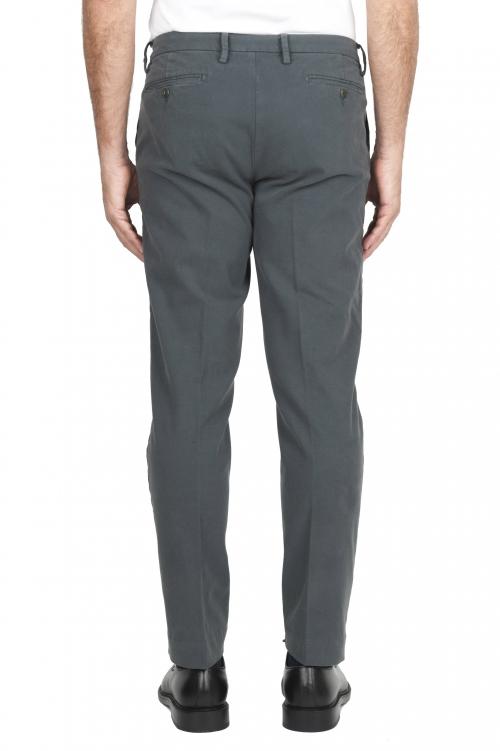 SBU 01540_19AW Pantalon chino classique en coton stretch gris 01