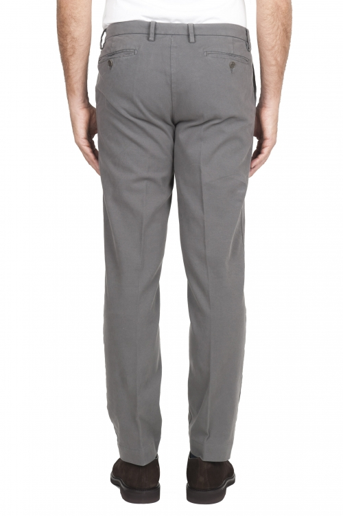 SBU 01543_19AW Classic chino pants in light grey stretch cotton 01