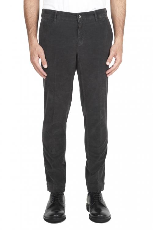 SBU 01545_19AW Pantaloni chino classici in cotone stretch grigio 01