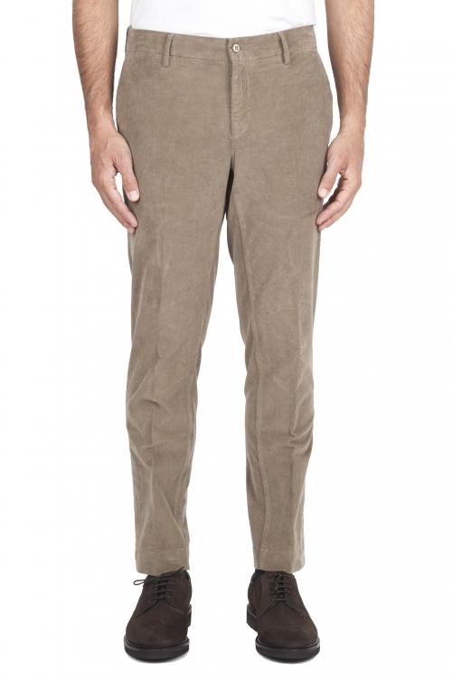 SBU 01546_19AW Classic chino pants in beige stretch cotton 01