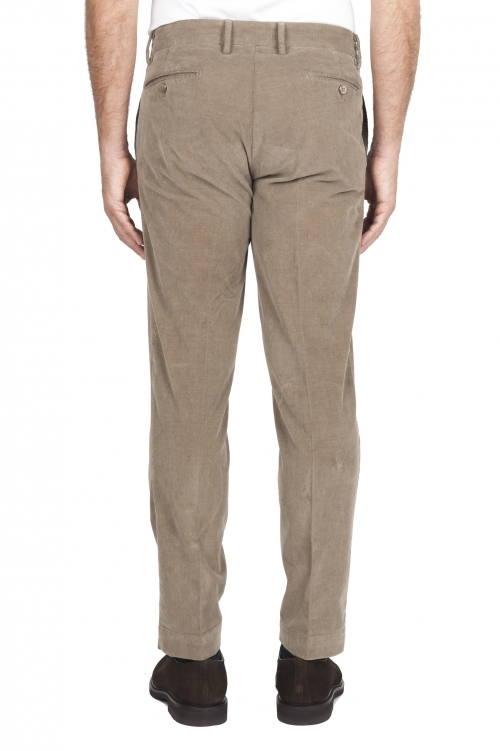SBU 01546_19AW Pantalon chino classique en coton stretch beige 01