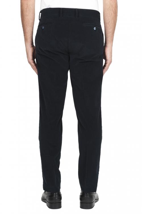 SBU 01548_19AW Pantaloni chino classici in cotone stretch blu 01