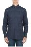 SBU 01820_19AW Floral printed pattern blue cotton shirt 01