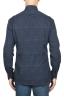 SBU 01820_19AW Floral printed pattern blue cotton shirt 05