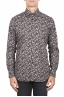 SBU 01821_19AW Floral printed pattern grey cotton shirt 01