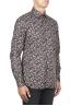 SBU 01821_19AW Floral printed pattern grey cotton shirt 02
