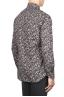 SBU 01821_19AW Floral printed pattern grey cotton shirt 04