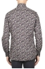 SBU 01821_19AW Floral printed pattern grey cotton shirt 05