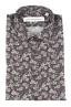 SBU 01821_19AW 花柄プリントグレーコットンシャツ 06