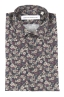 SBU 01821_19AW Floral printed pattern grey cotton shirt 06