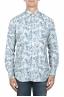 SBU 01822_19AW Camicia in velluto stampata fantasia in cotone bianca 01