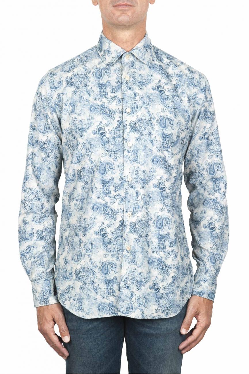 SBU 01822_19AW Camisa de pana blanca con estampado floral 01