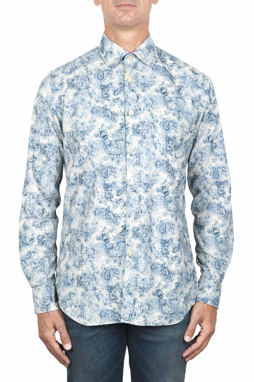 SBU 01822_19AW Floral patterned white corduroy shirt 01